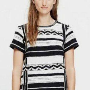 MADEWELL Women Aztec Design Knit Short sleeve Top